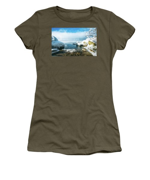 Women's T-Shirt (Junior Cut) featuring the photograph Lake Winnisquam by Robert Clifford