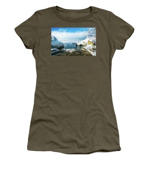 Lake Winnisquam Women's T-Shirt (Junior Cut) by Robert Clifford