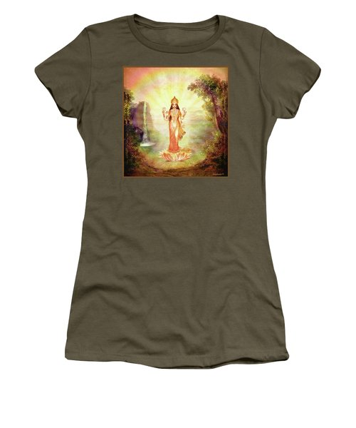 Lakshmi With The Waterfall Women's T-Shirt (Athletic Fit)