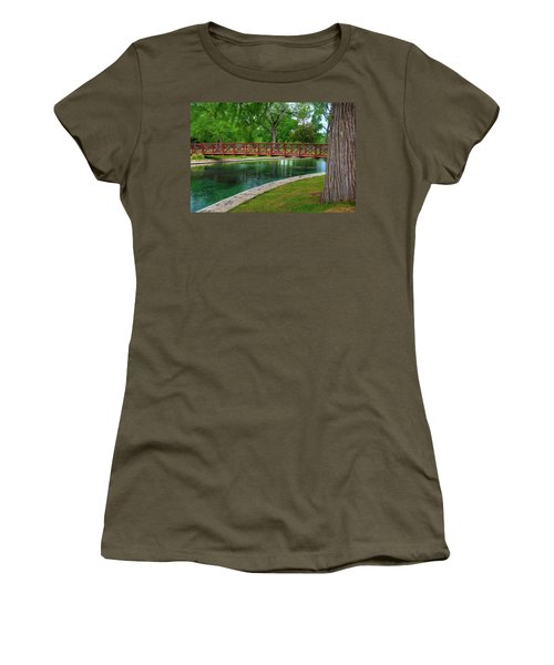 Landa Park Bridge Women's T-Shirt (Junior Cut) by Kelly Wade