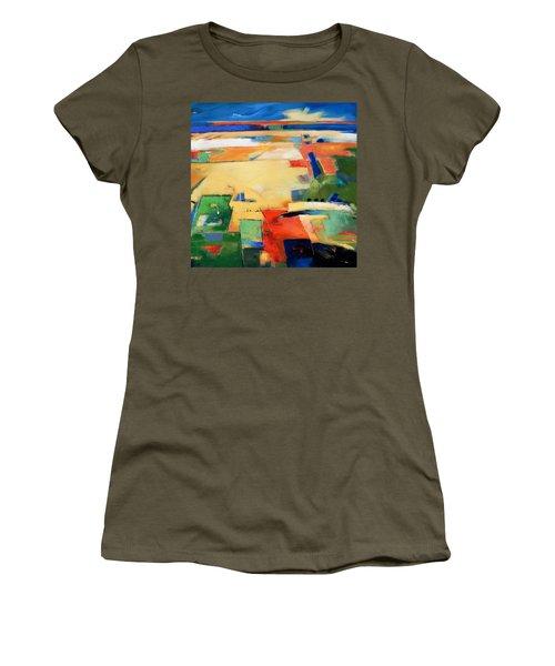 Landforms, You've Never Been Here Women's T-Shirt (Junior Cut) by Gary Coleman