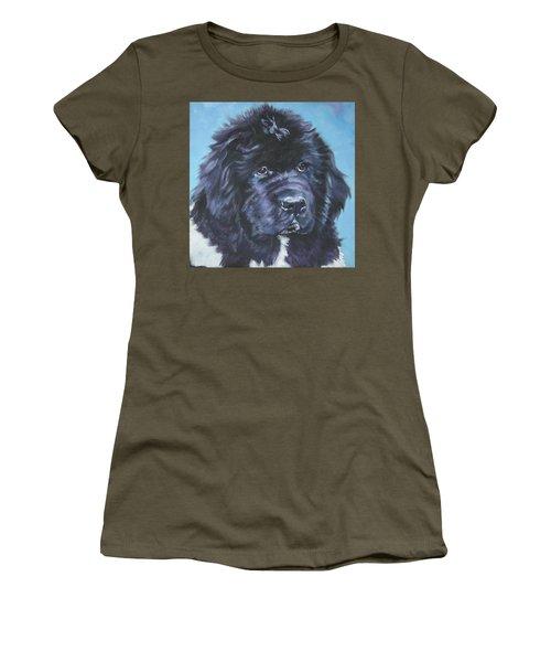 Landseer Newfoundland Puppy Women's T-Shirt
