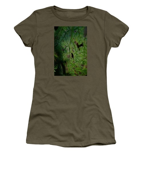 Women's T-Shirt (Junior Cut) featuring the photograph Languid Leaf by Adria Trail