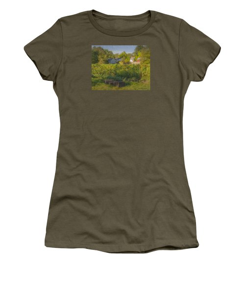 Langwater Farm Sunflowers And Barns Women's T-Shirt