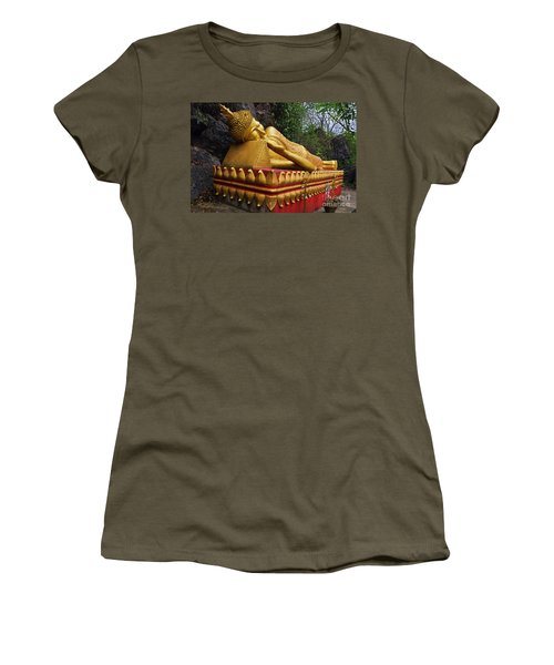 Women's T-Shirt (Junior Cut) featuring the photograph Laos_d602 by Craig Lovell