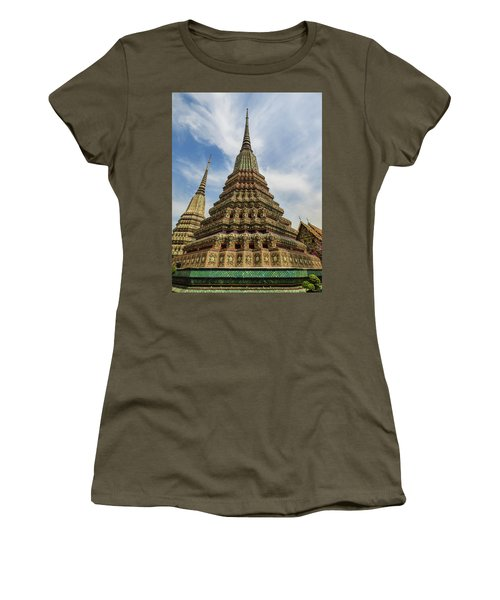 Large Colorful Stupa At Wat Pho Women's T-Shirt