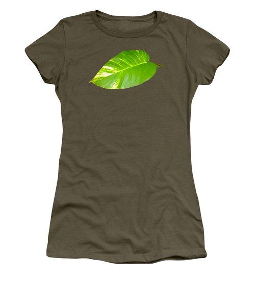 Large Leaf Art Women's T-Shirt