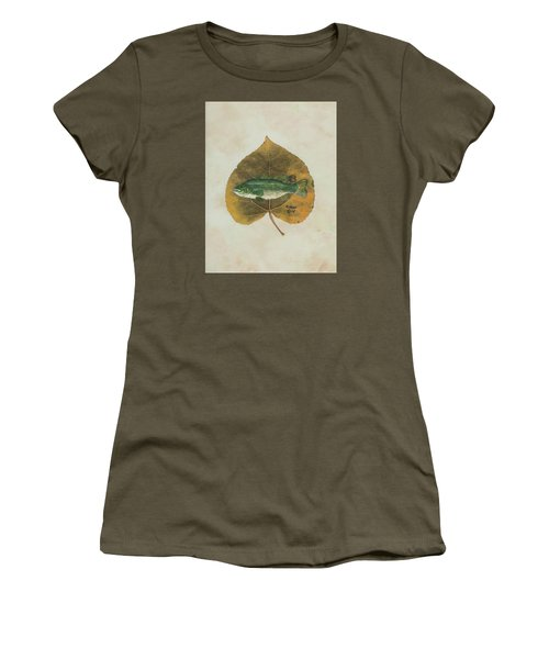 Large Mouth Bass Women's T-Shirt (Junior Cut) by Ralph Root