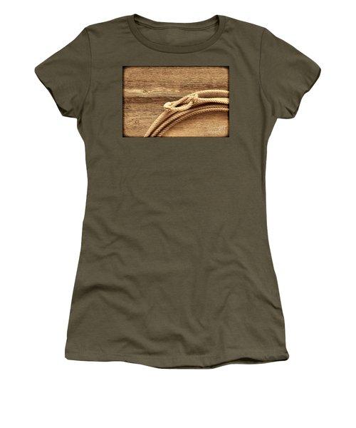 Lariat On Wood Women's T-Shirt