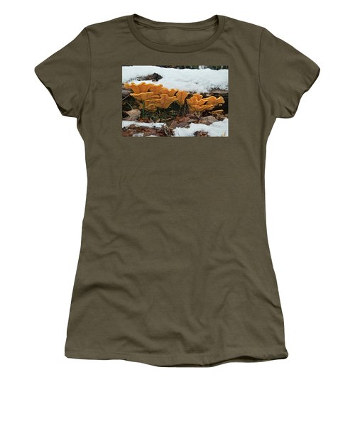 Last Mushrooms Of The Seasons Women's T-Shirt (Junior Cut) by Michael Peychich