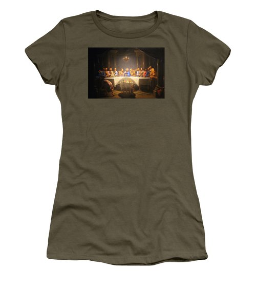 Last Supper Meeting Women's T-Shirt (Athletic Fit)
