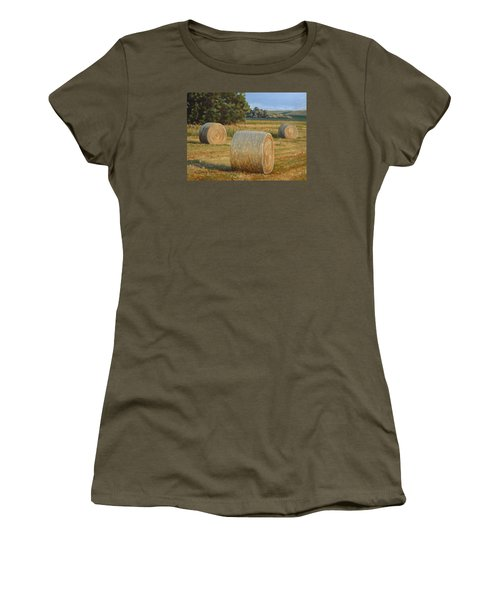 Late Afternoon Bales - Plein Air Women's T-Shirt