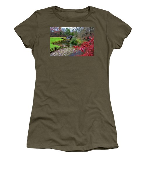 Late Fall At Mabry Mill Women's T-Shirt (Athletic Fit)