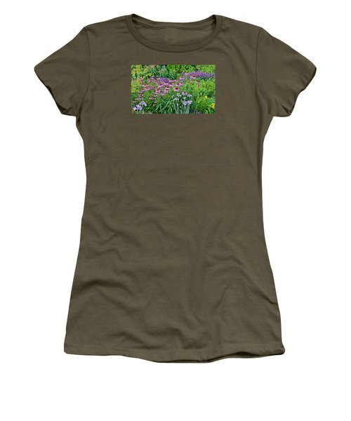Late July Garden 2 Women's T-Shirt (Junior Cut) by Janis Nussbaum Senungetuk