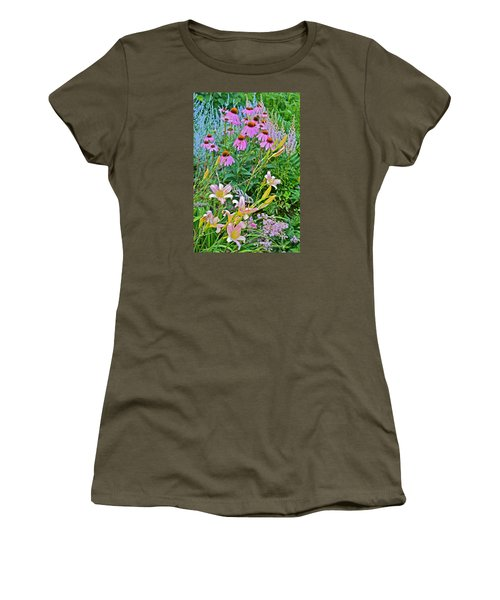Late July Garden 3 Women's T-Shirt (Junior Cut) by Janis Nussbaum Senungetuk