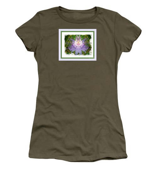 Laughing Flower Women's T-Shirt (Athletic Fit)