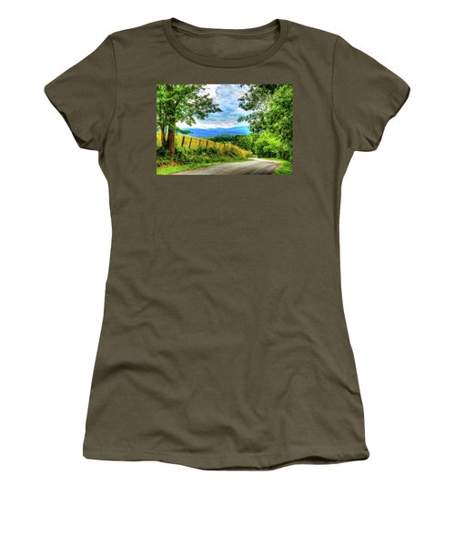 Laurel Hill View Women's T-Shirt (Junior Cut) by Dale R Carlson