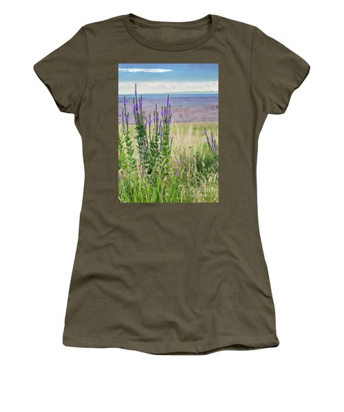 Lavender Verbena And Hills Women's T-Shirt (Athletic Fit)
