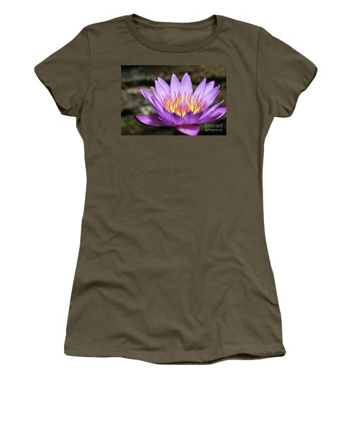 Lavender Water Lily #3 Women's T-Shirt (Athletic Fit)