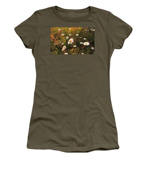 Lazy Days Daisies Women's T-Shirt (Junior Cut) by Karen Horn