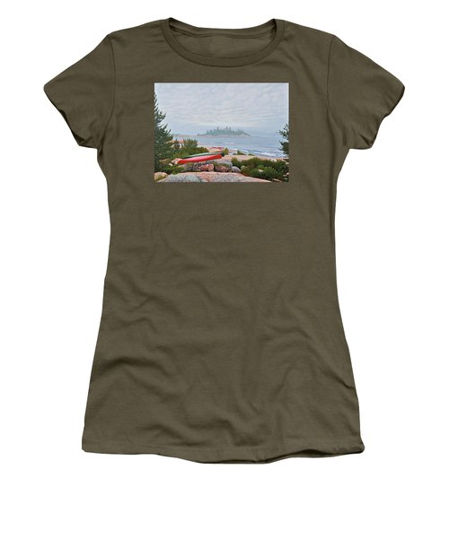 Women's T-Shirt (Junior Cut) featuring the painting Le Hayes Island by Kenneth M Kirsch