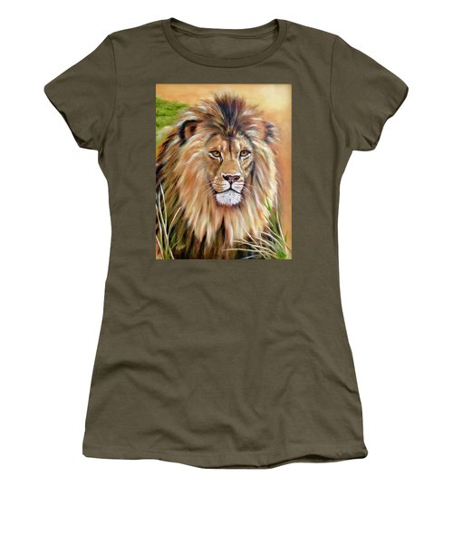 Le Roi-the King, Tribute To Cecil The Lion   Women's T-Shirt (Athletic Fit)