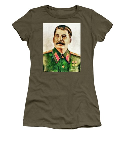 Leaders Of Wwii - Joseph Stalin Women's T-Shirt