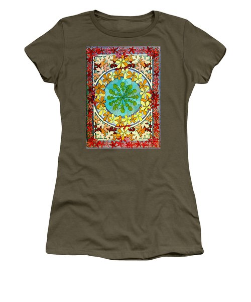 Leaf Motif 1901 Women's T-Shirt (Athletic Fit)