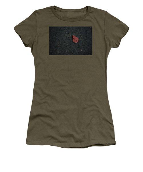 Leaf On Asphalt Women's T-Shirt (Athletic Fit)