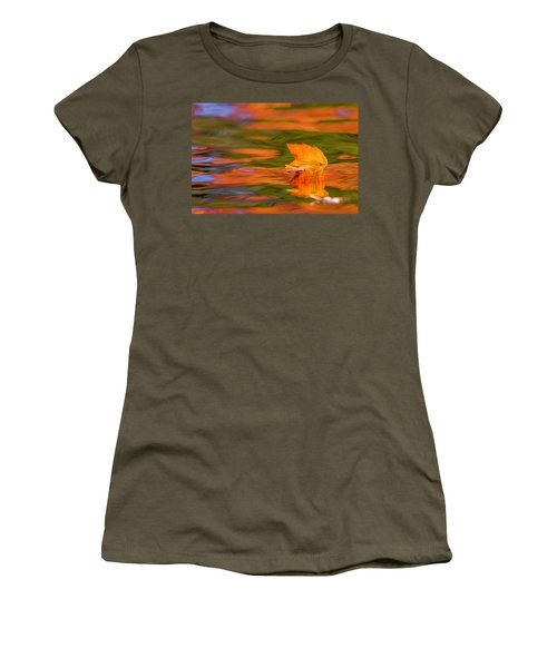 Leaf On Water Women's T-Shirt