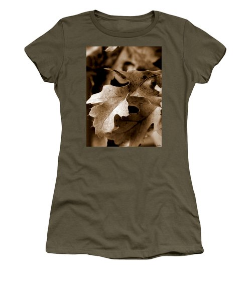 Leaf Study In Sepia IIi Women's T-Shirt (Athletic Fit)