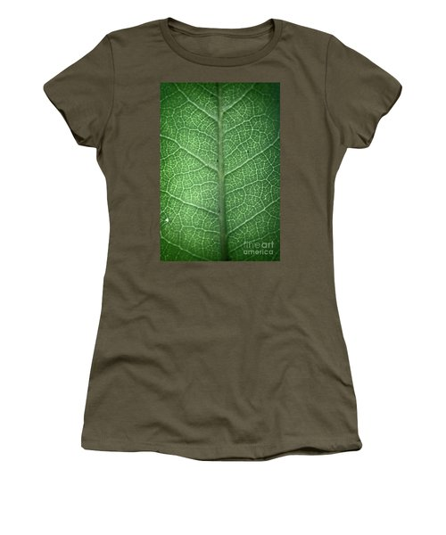Leaf Vein Women's T-Shirt (Athletic Fit)