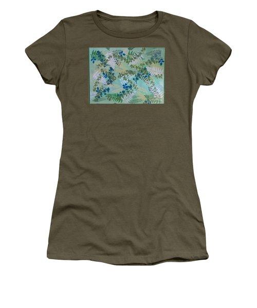 Leafy Floor Cloth Women's T-Shirt (Junior Cut) by Judith Espinoza