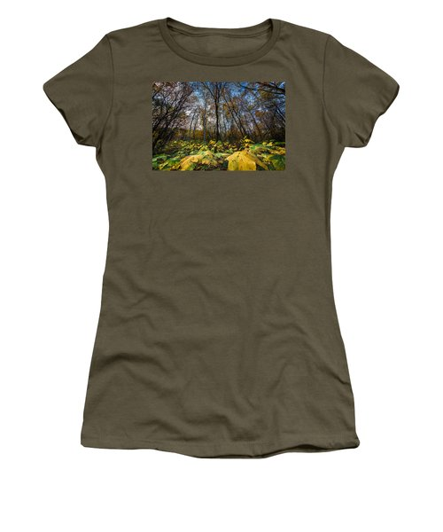 Leafy Yellow Forest Carpet Women's T-Shirt