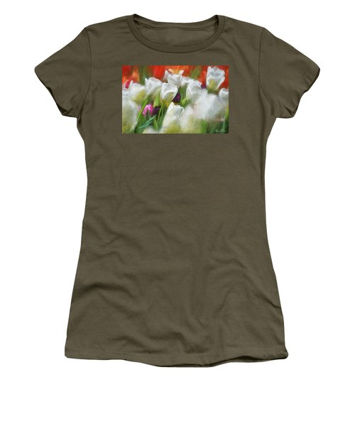 Women's T-Shirt featuring the photograph Leaning On Each Other by Andrea Platt