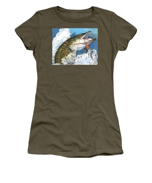leaping Pike Women's T-Shirt (Athletic Fit)