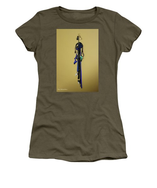 Leash Lady Just Hanging On The Wall Women's T-Shirt (Athletic Fit)