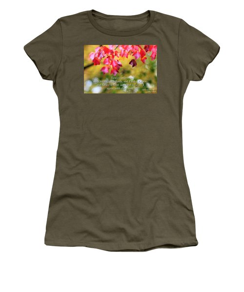 Leaves Believe Women's T-Shirt (Athletic Fit)