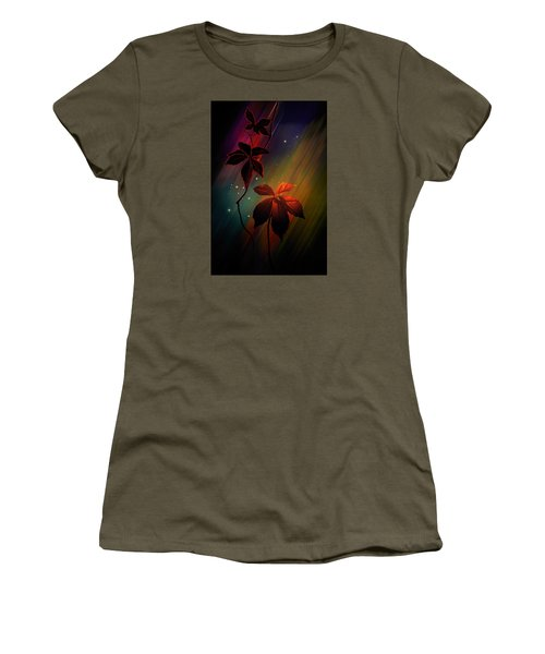 Women's T-Shirt (Junior Cut) featuring the photograph Leaves Of Three by Judy  Johnson