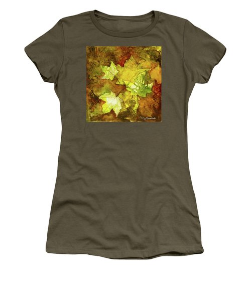 Leaves Women's T-Shirt (Junior Cut) by Terry Honstead