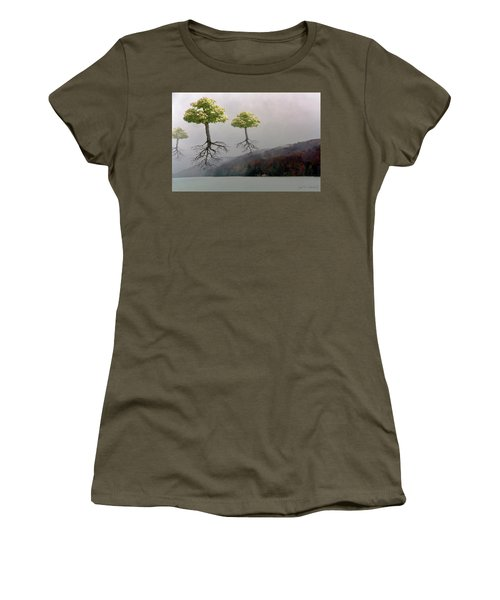Leaving Home Women's T-Shirt (Junior Cut) by Joan Ladendorf