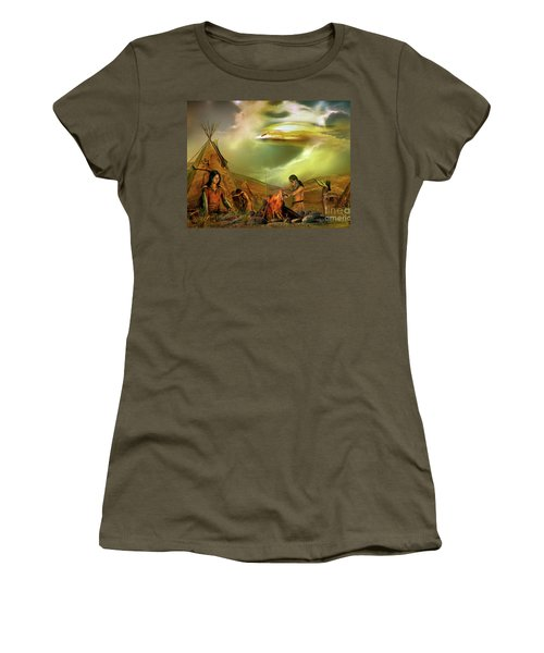 Legends Of The Sky People  Women's T-Shirt (Junior Cut) by Shadowlea Is