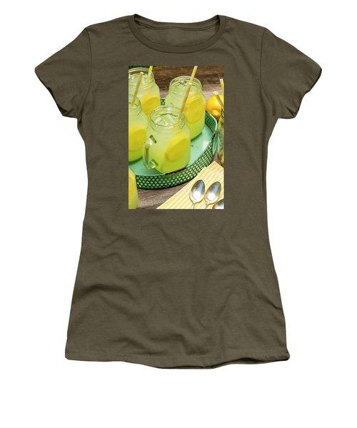Lemonade In Blue Tray Women's T-Shirt