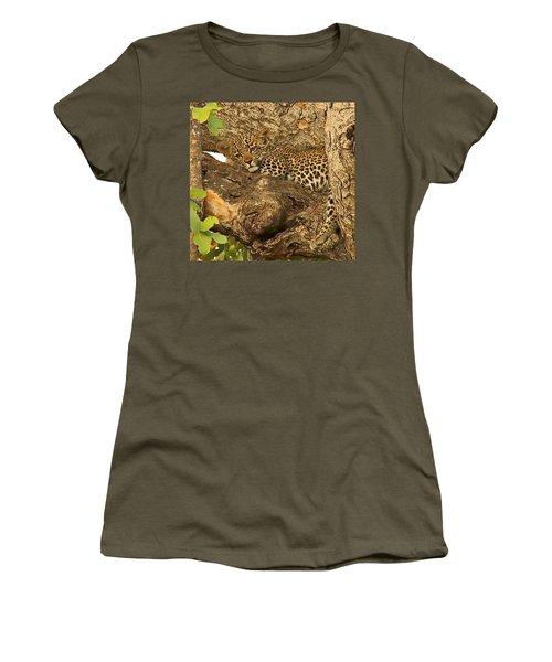 Leopard Cub Women's T-Shirt (Athletic Fit)