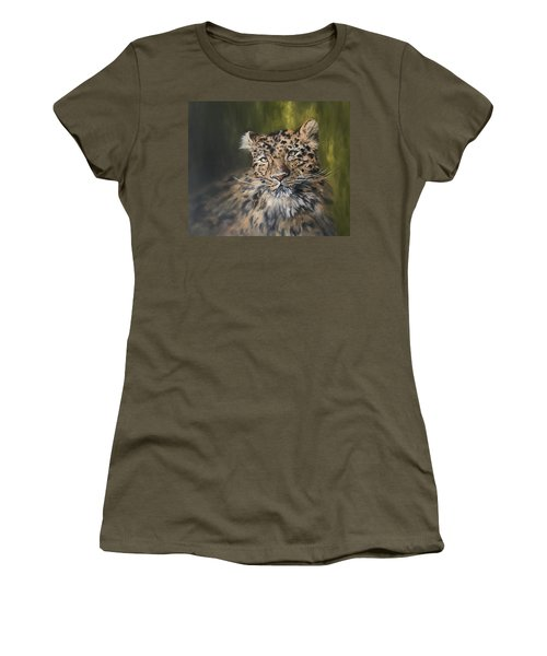 Leopard Relaxing Women's T-Shirt (Athletic Fit)