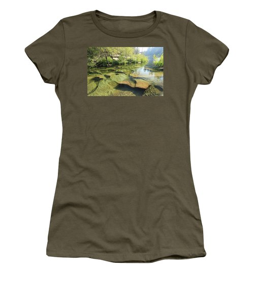 Women's T-Shirt (Athletic Fit) featuring the photograph Let The Light Consume You by Sean Sarsfield