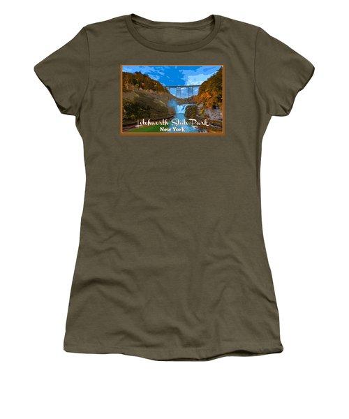 Letchworth State Park Vintage Travel Poster Women's T-Shirt