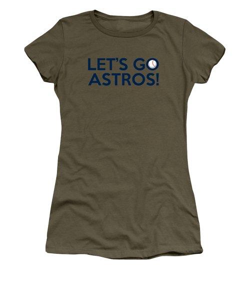 Let's Go Astros Women's T-Shirt (Athletic Fit)