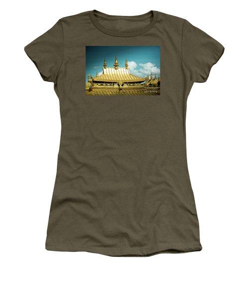 Lhasa Jokhang Temple Fragment Tibet Artmif.lv Women's T-Shirt