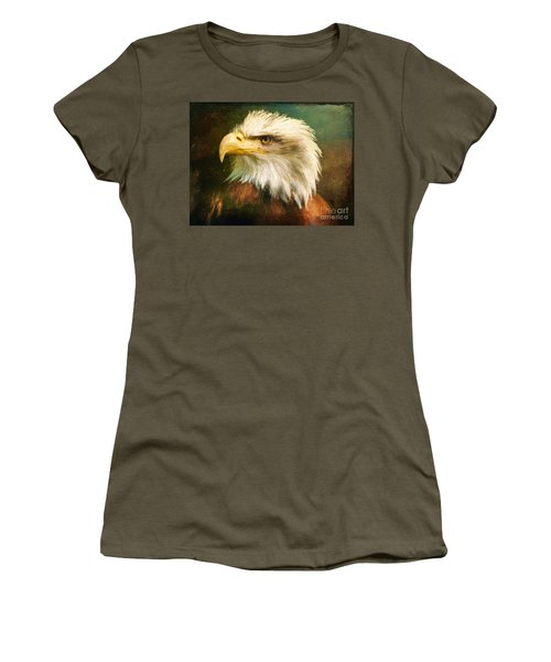 Liberty And Justice Women's T-Shirt (Junior Cut) by Tina LeCour
